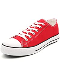 Men Classic Canvas Shoes Casual Low Top Lace Up Fashion Comfortable Walking Sneakers
