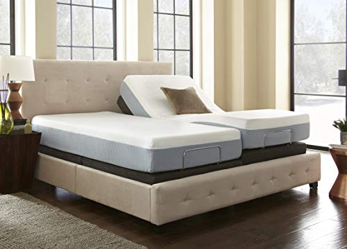 Boyd Sleep Lifestyle Adjustable Bed Frame/Mattress Foundation with Tethered Remote, Twin XL/Split King