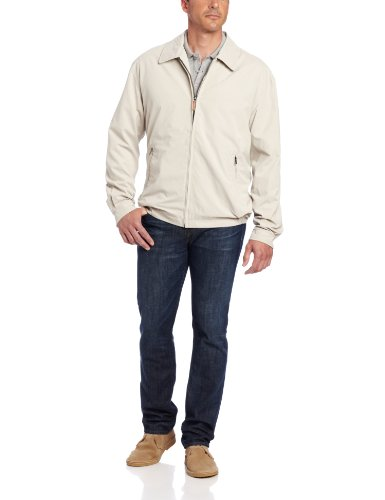(London Fog Men's Auburn Zip-Front Golf Jacket (Regular & Big-Tall Sizes), Cement, X-Large)