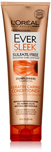 (L'Oréal Paris EverSleek Sulfate Free Keratin Caring Conditioner, 8.5 fl. oz.)