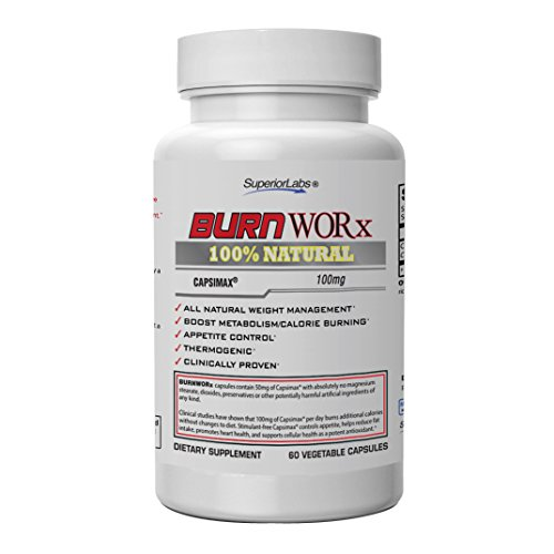 Cheap Superior Labs – Burn Worx – All-Natural Weight Management Supplement Helps Boost Metabolism, Supports Calorie Burning While Enhancing Energy Levels – Metabolic Enhancer with Capsimax®