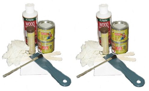 - PC Products 84113 Rotted Wood Repair Kit with Water-Based Hardener, and Epoxy Paste and Putty (2-(Pack))