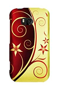 Graphic Rubberized Shield Hard Case for Nokia Lumia 822 - Elegant Swirl (Package include a HandHelditems Sketch Stylus Pen)