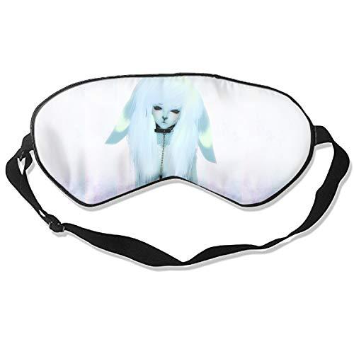 Animal Furry (Anthropomorphic) Sleep Mask,Deep Rest Eye Mask with Adjustable Head Strap, Sleep Satisfaction Guaranteed, Sleep Anywhere, Anytime