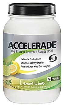 PacificHealth Accelerade, All Natural Sport Hydration Drink Mix, Net Wt. 4.11 lb., 60 serving Lemon Lime
