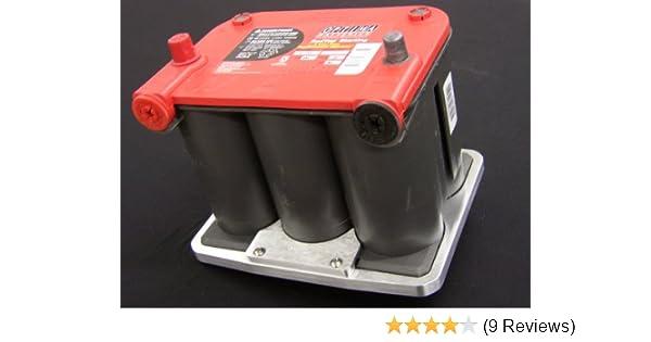 Optima 75//35 Ball Milled Aluminum Battery Tray Optima Group 75 35