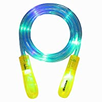 iBostom Light Up Jump Rope - Jump Rope for Kids Led Jump Rope Flashing Color Change Skipping Rope Colorful Light Jumping Rope Fun Toy with Gift Box
