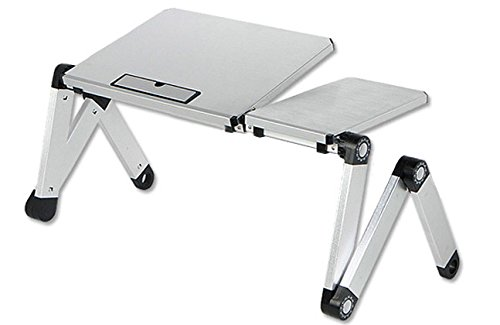 Qiaoba- Aluminum alloy folding Notebook Lapdesk, White