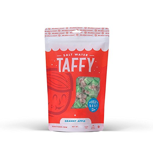 Taffy Shop Granny Apple Salt Water Taffy - 1/2 LB (Taffy Green)
