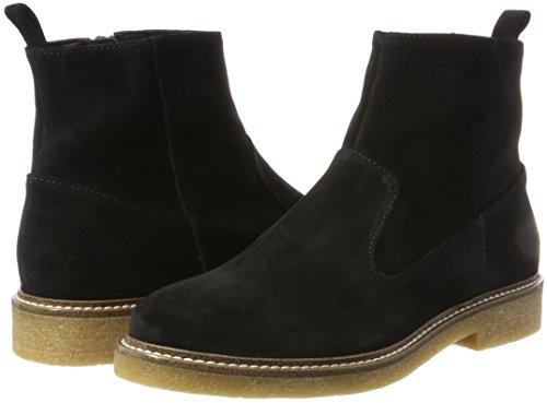 Bianco Wildleder black Noir Boots Femme Chelsea 10 rrCwd4qnx
