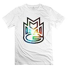 XY-TEE Men's Crew Neck Tee Meek Mill Believe It RoyalBlue Size M