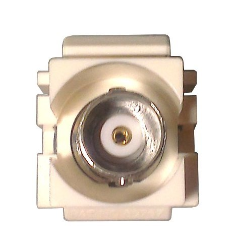 GC 45-5640-BU - White BNC Modular Insert (10 pack) - Standard Datacom Wall Plate Inserts