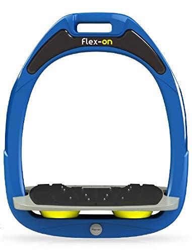 【 限定】フレクソン(Flex-On) 鐙 ガンマセーフオン GAMME SAFE-ON Mixed ultra-grip フレームカラー: ブルー フットベッドカラー: グレー エラストマー: イエロー 09242   B07KMRQL7J
