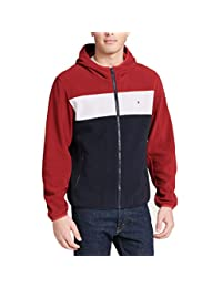 Tommy Hilfiger Mens Hooded Performance Fleece Jacket Fleece Jacket