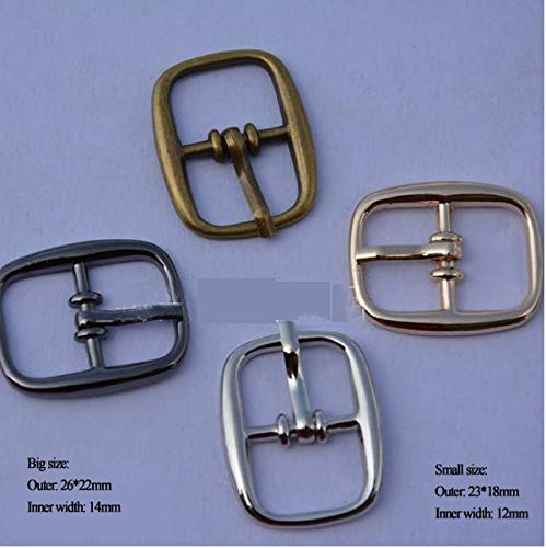 Buckes - Wholesale 50pcs/lot Small Metal Shoe Buckle with pin Metal zinc Alloy Buckle Multiple Color bk-001 - (Size: 12mm Mixed Color) from Lysee