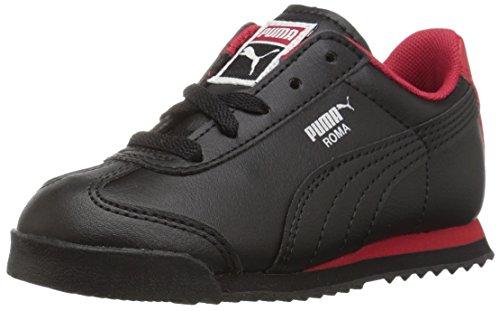 (PUMA Roma Basic Inf Sneaker,Puma Black/Toreador/Puma Silver,7 M US Toddler)