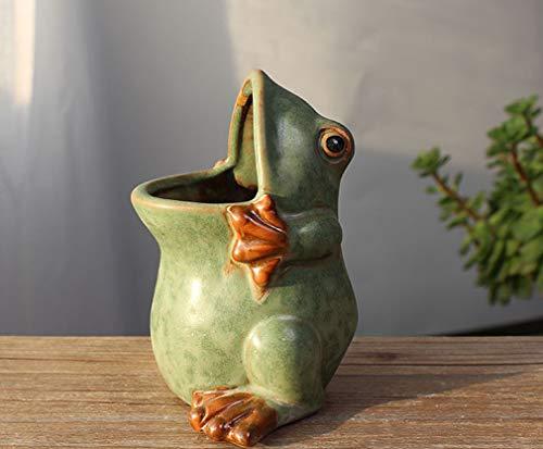 Ceramic Frog Shaped Plant Pot/Bonsai Pot/Flower Pot/Succulent Planter Multipurpose Pot ()