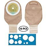 LotFancy Ostomy Colostomy Ileostomy Stoma Bags, One Piece Drainable Pouch Supplies, FDA Approved, Cut-to-Fit, Pack of 10
