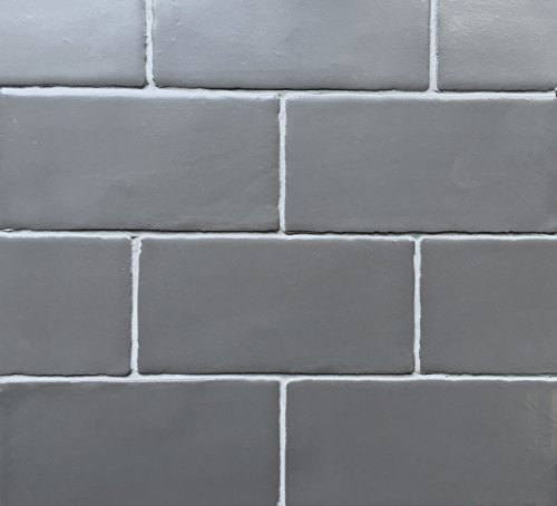 3x6 Graphite Dark Gray Matte Glazed Subway Ceramic Tile Backsplashes Walls Showers ()