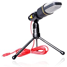 VIMVIP Professional Condenser Skype Audio Sound Podcast Microphone Mic PC Laptop Karaoke Studio with Stand Shock Mount for Laptop PC Computer