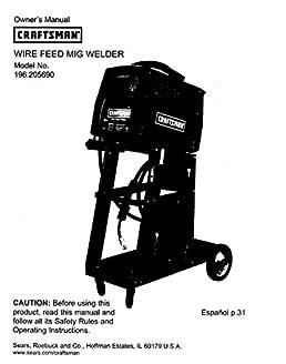 craftsman 196 205690 mig welder owners instruction manual amazon rh amazon com Owner S Manual Craftsman 917 Sears Craftsman ManualsOnline