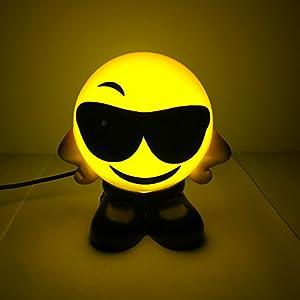 Kanstar Emoji USB Charging Foggy Warm Lights - Bed Lamps - Night lights (Sunglass)