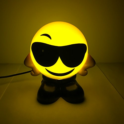 Sunglasses Emoji USB  Charging Bed Lamps