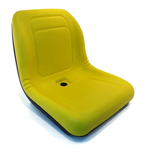 New Yellow HIGH BACK SEAT for John Deere Z-Track ZTR F620 F680 Lawn ()