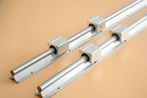 CHUANGNENG 2Pcs SBR20 1500mm Linear Bearing Slide Rail Guide Shaft+4Pcs SBR20UU 20mm Blocks US Stock