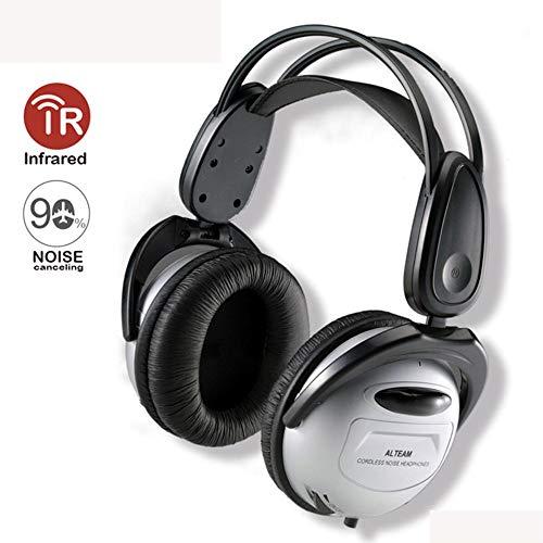 RYZRYZ Auricular inalámbrico Plegable, reducción de Ruido Auricular Bluetooth con micrófono, Cable ANC infrarrojo rápido...