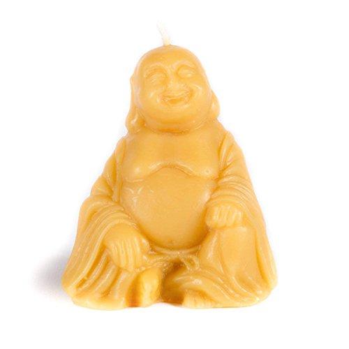 (Bluecorn Beeswax 100% Pure Beeswax Buddha Candle (Raw, 3.5