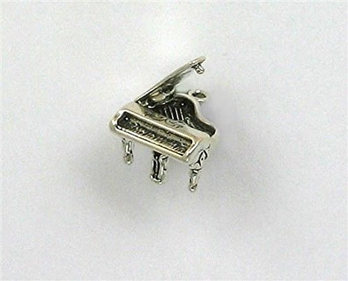 Sterling Silver 3-D Movable Piano Charm Jewelry Making Supply, Pendant, Charms, Bracelet, DIY Crafting by Wholesale Charms