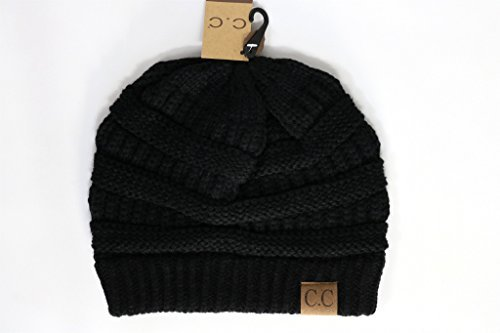Crane Clothing Co  Womens Classic Cc Beanies One Size Black