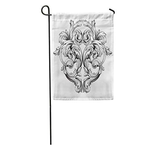 Semtomn Garden Flag Arabesque Baroque of Vintage Filigree You for Wedding Laser Cutting Home Yard Decor Barnner Outdoor Stand 28x40 Inches Flag