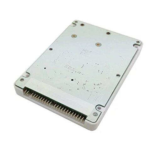 Goliton mSATA mini PCI-E SATA SSD to 2.5 inch IDE 44pin Notebook Laptop hard disk case Enclosure White (2.5 Ide Drive)