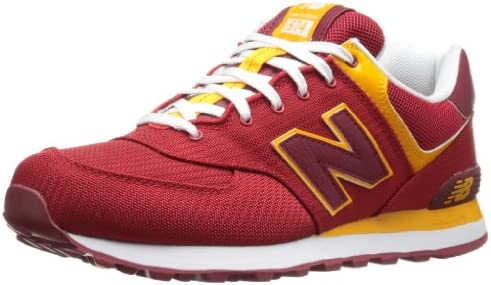 Zapatillas New Balance 574 Roja/Amarilla 45 Rojo: Amazon.es ...