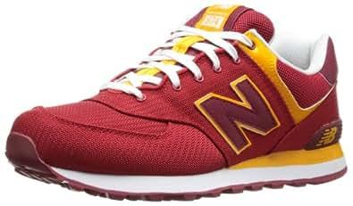 New Balance Men's ML574 Passport Running Shoe,Red,6.5 2E US