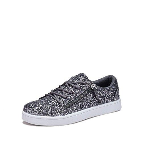 Dröm Söka 7540l Glitter Womens Mode Sneakers D.grey