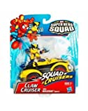 Marvel Super Hero Squad Claw Cruiser Squad Cruisers with Wolverine Figure