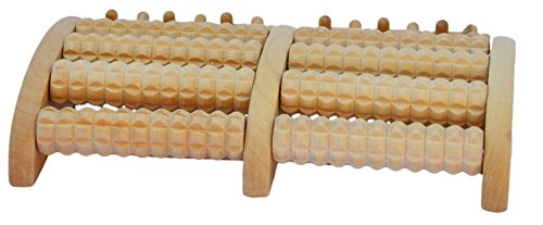 5-Roll Wooden Foot Massage Roller Plus 3 FREE bags of Foot Soak & Bath Herbs samples $10 Value by Shine Wellness Inc (Image #1)