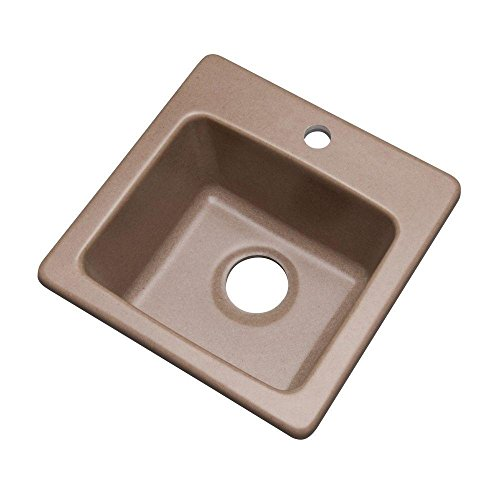 Thermocast 17104Q Manchester Composite Granite Prep Sink with One Hole, 16-Inch, -