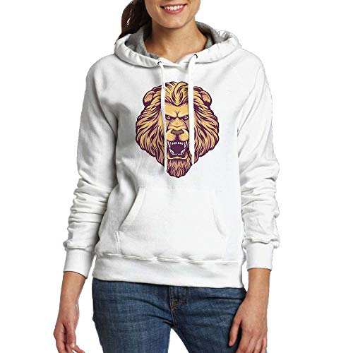 Fierce Lion Girls Sweatshirt Casual Long Sleeve Pullover Hoodies with Pocket for Womans