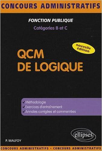 Télécharger en ligne QCM de logique : Catégories B et C pdf