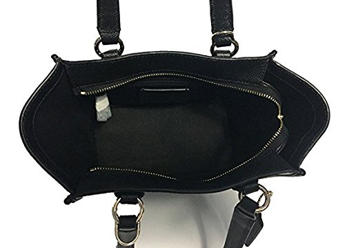 Crossbody Leather Black Satchel Mini Coach Crosby Crossgrain fqv0w4