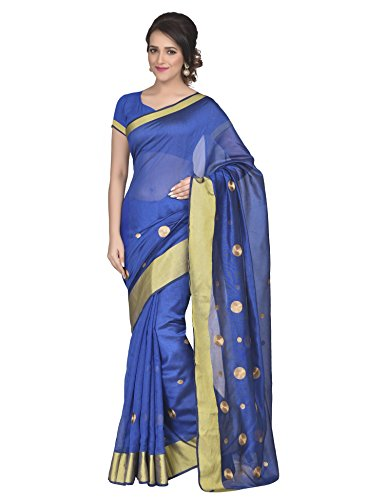 Oomph! Cotton Embroidered Sarees for Women Party Wear