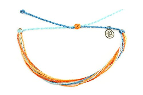 (Pura Vida Jewelry Bracelets - Citrus Surfline Bracelet - 100% Waterproof and Handmade w/Iron-Coated Copper Charm)