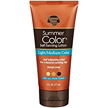 Banana Boat Summer Color Self Tanning Lotion -Light Medium-6 oz (Pack of 4)