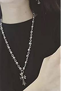 a8fb5c926301 Follsy Chrome Hearts Necklace European and American Big Influx of People  Retro Cross Long Sweater Chain