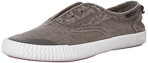 Sperry Women's Sayel Clew Washed Canvas Sneaker, Dark Grey, 6.5 M US