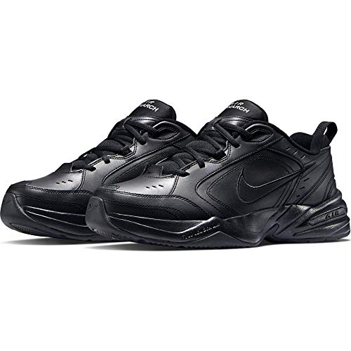 Nike Men's Air Monarch IV Cross Trainer, Black, 10 4E US (Flat Shoe Laces Nike)